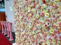 flower wall hire/flower wall backdrop, wedding backdrop,party backdrop