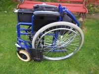 Selfpropelled wheelchair, very good clean condition,