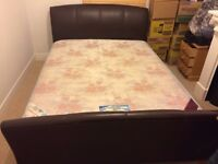 King Size Frame (Leather) and Mattress