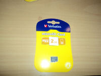 Verbatim Micro SD cards 2 GB.