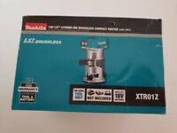"Makita (DRT50ZJ) Cordless XTR01Z 18V Brushless 1/4"" Router Trimmer Tool only NIB"