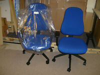 PSI NOVA POSTURE ERGONOMIC COMPUTER CHAIR WITH ARMS - BLUE - BRAND NEW AND UNUSED.
