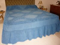 Candlewick double bedspread Used but very good condition Saxe blue colour Lovely bedspread