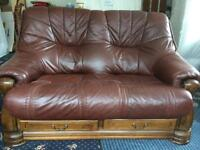 2 Leather two seater settees