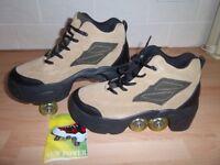 Quad KICK ROLLER Skates retractable WALKnROLL