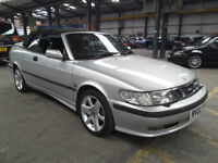 2002(02)SAAB 9-3 2.0 SE TURBO CONVERTIBLE MET SILVER,LONG MOT,LEATHER,CLEAN CAR,GREAT VALUE
