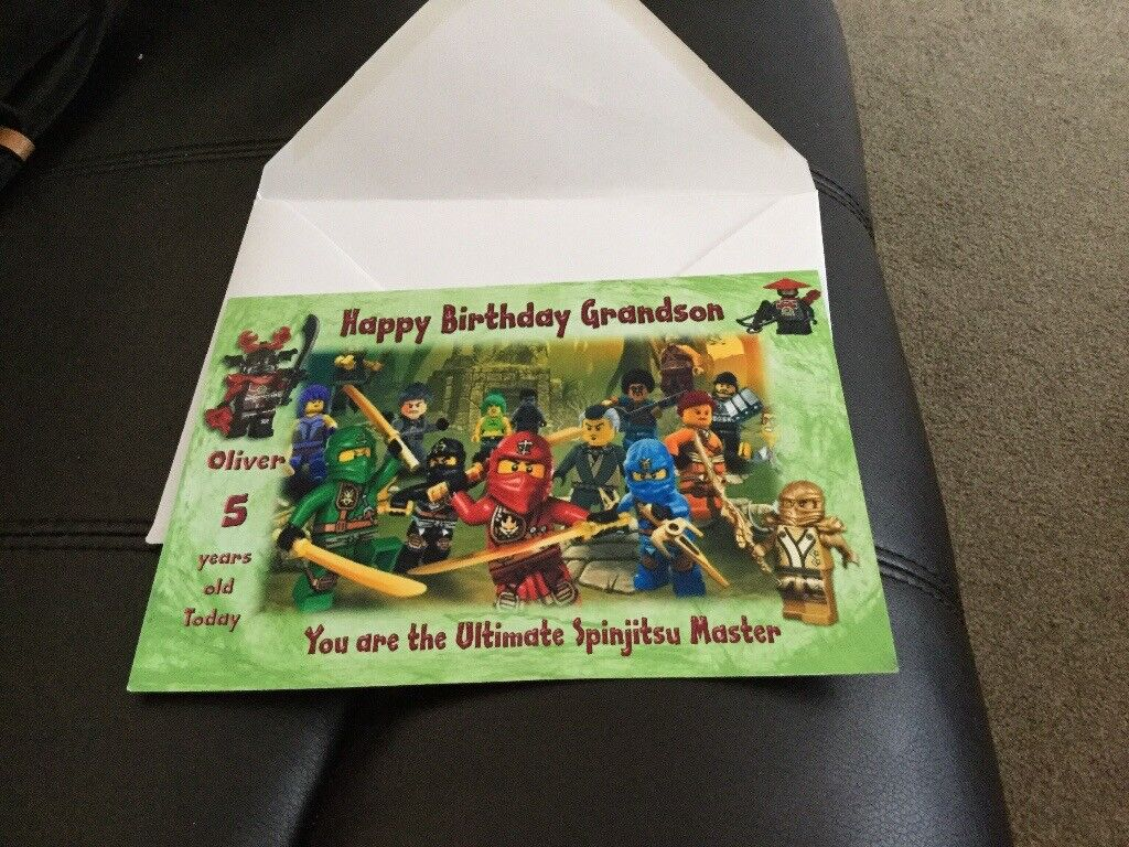 Description Birthday Card Showing Grandson