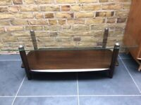 Ercol rectangular coffee table with a glass top - Free Local Delivery