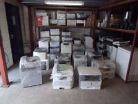 Massive job lot of 60 laser printers and photocopiers, all tested working,