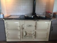 Cream Aga Four Oven Oil Fired