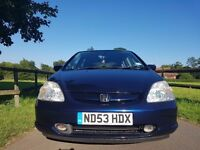 Honda Civic MOT 07/04/2017 OWNER NON SMOKER