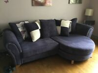 4 seater lounger sofa with pillow back and swivel chair ( dfs) l