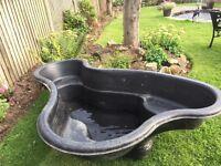 """Rigid pond. 6'x3'6""""x2'deep. Had little use. £35"""