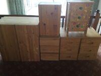 Free pine Ikea Ivar drawer and cupboards suit kids bedroom