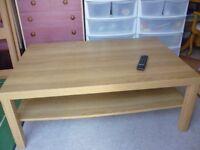 Large Ikea Oak effect Coffee Table