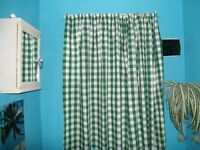 Gingham Curtains