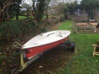 Laser regatta dinghy boat