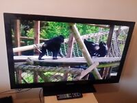 """Great condition 40""""; SAMSUNG LCD TV full hd ready 1080p frèeview inbuilt"""
