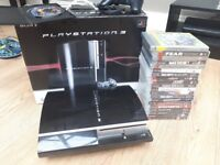 Boxed 320gb ps3 console, 21 games, all leads and 1 controller