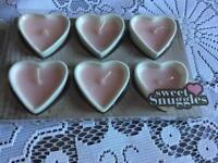 Sweet sunggles 6 heart shaped scented candles new in box £5