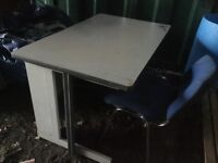 Metal Desk, melamine Top