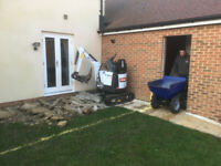 Mini or micro digger and skilled driver for hire in West Sussex, Surrey and Hampshire