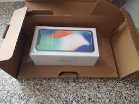 Iphone x 64gb silver in hand now