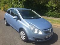 CORSA 1.2 LIFE 57 REG IN BLUE WITH ONLY 88400 MILES WITH SERVICE HISTORY, MOT MAY 2018...07541350817