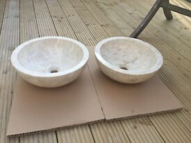 2 X solid marble sinks