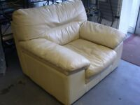 Bardi Italian Cream Leather Armchair