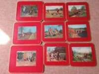Vintage Photo Hunting Scene Table Mats