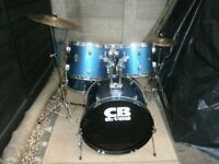 CB DRUM KIT,STANDS AND CYMBALS