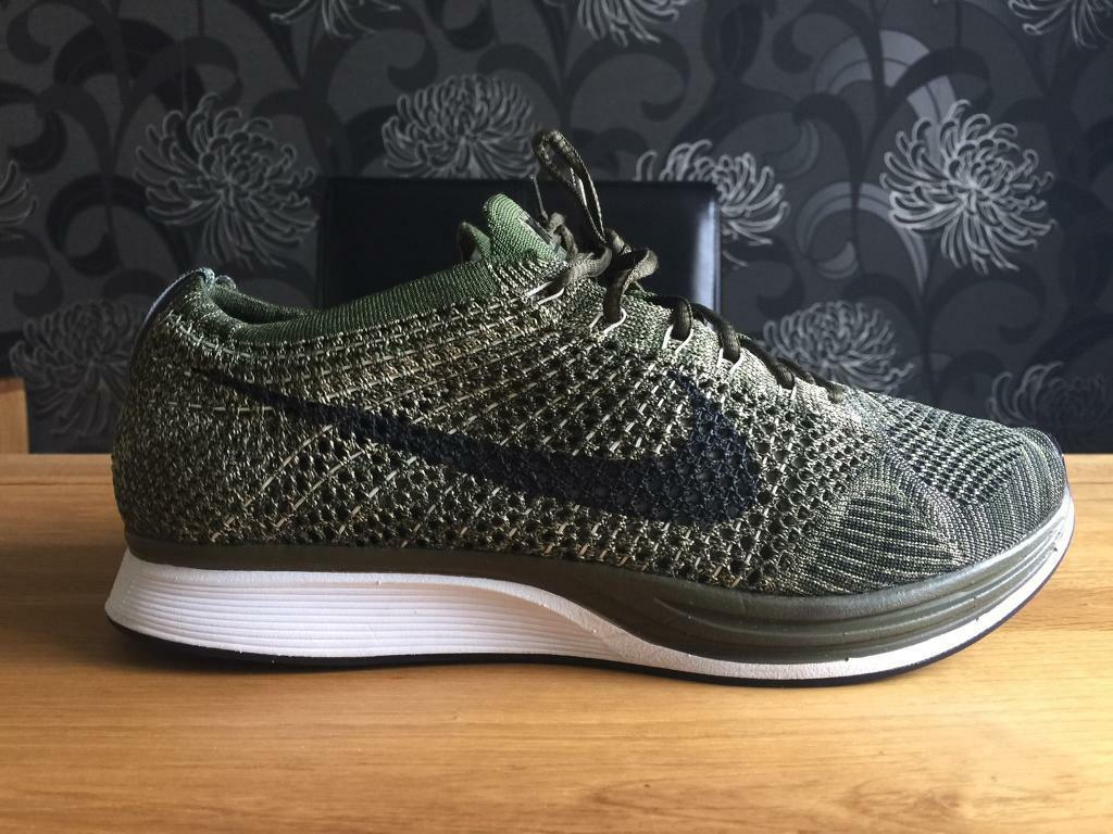 c37b300da473 ... shopping nike flyknit racer rough green black u.k 8.5 8f9f4 ebb94