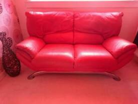 2 Seater Sofa with chrome legs