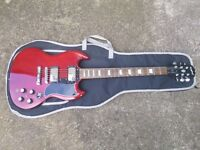 Epiphone SG 400 electric guitar (Korean) & Levys guitar case
