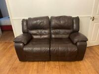 Genuine leather reclining sofas and chair (3+2+1)