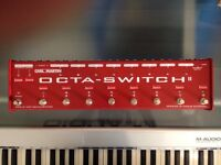Excellent Pedal Switcher/Guitar FX Controller for sale - Carl Martin Octa-Switch MKII !!
