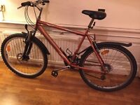 Mountain Bike With Front Hydraulic Disc Brake and Suspensions - Good Condition!!