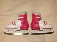 Girl's Adjustable Ice Skates, Size 9 - 12