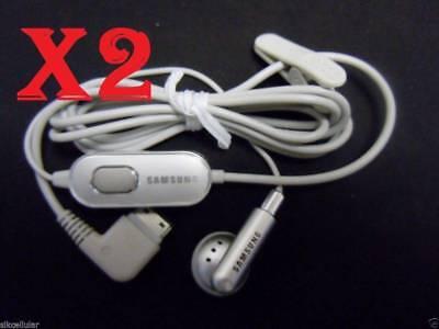 2x New  Samsung S20-pin M300 M510 Silver/Grey Mono Headset Earphone+Mic Samsung 20 Pin