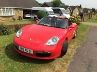 porsche boxster guards red 2.7 2008 plate