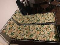 2x Vintage Floral Sunloungers Chairs Garden 60s £20 ONO E17