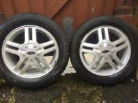 4 wheels with tyres r15