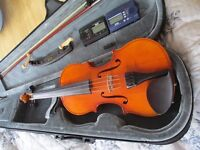 Stagg three quarter size violin, a year old. Plus case, bow, metronome, chin rest and tuner. VGC.