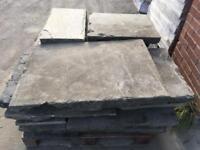 Yorkstone paving slabs reclaimed