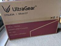 LG Ultragear 27GL83A-B 27 Inch Gaming Monitor QHD (2560 x 1440) IPS - 1ms Nvidia G-Sync BNIB