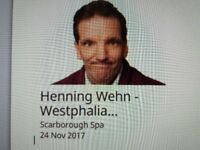 2 tickets to see Henning Wehn at The Spa Scarborough 24th November 2017