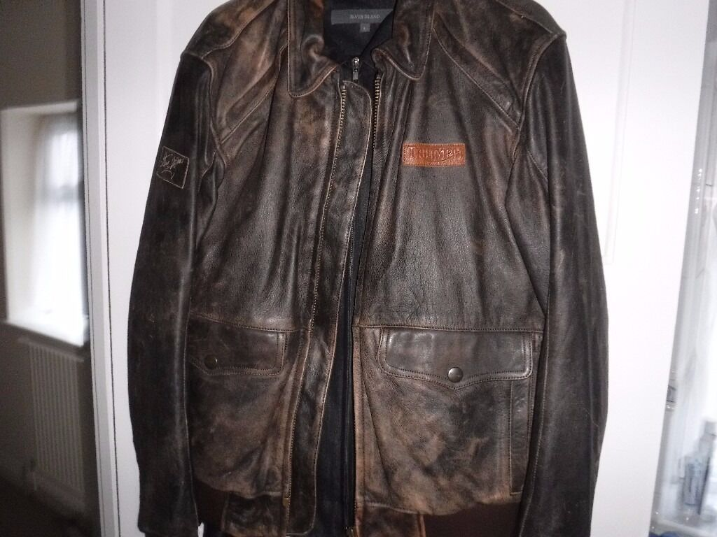 "triumph ""steve mcqueen"" leather jacket immaculate condition 