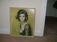 Louis Shabner retro original large Nicola framed print