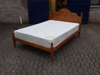 solid pine double bed with 10 inch thick limited edition orthopaedic mattress